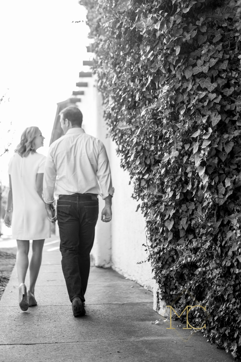 image from nashville engagement photo session walking in 12 south
