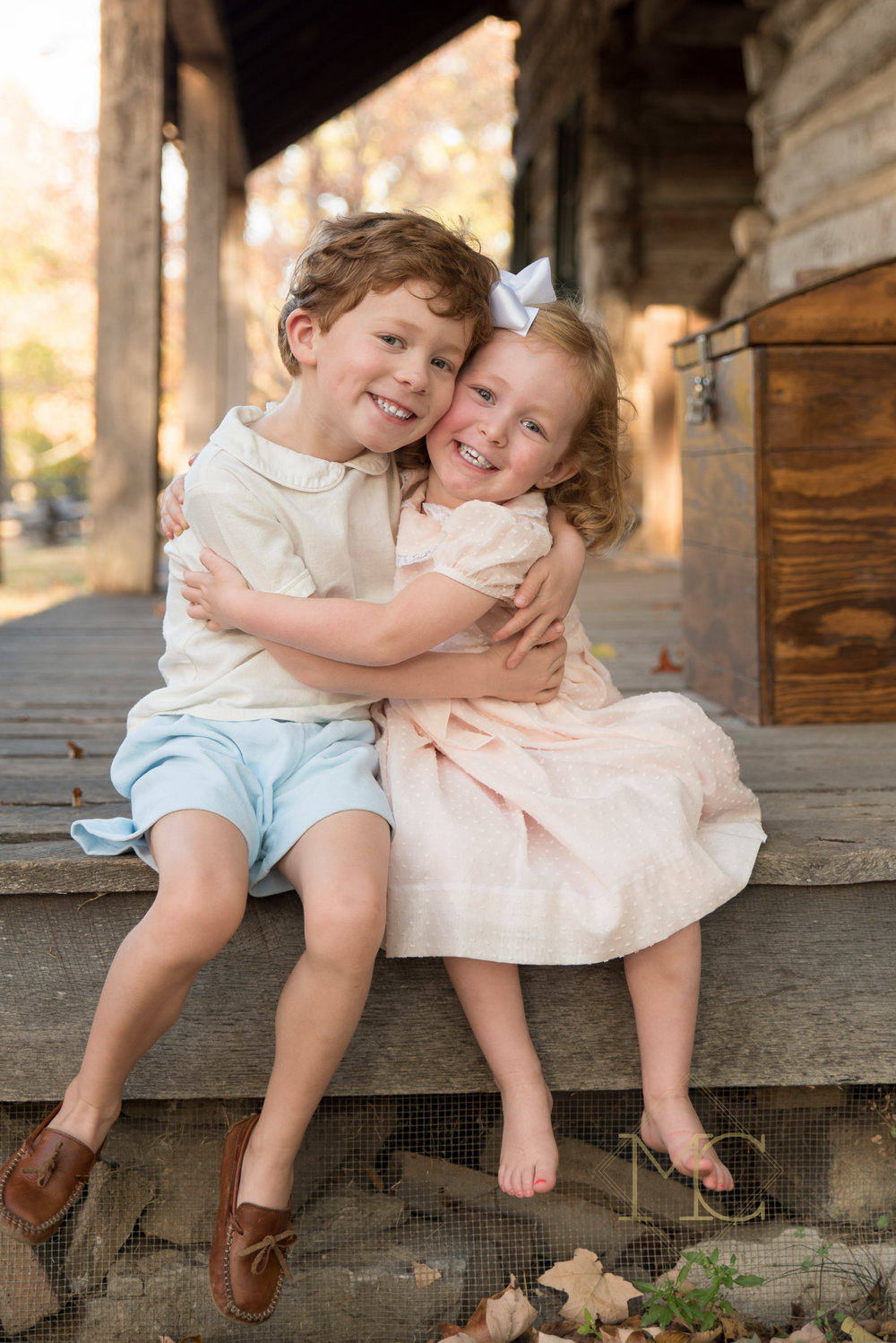 image from a nashville family lifestyle photo session at fall at belle meade plantation
