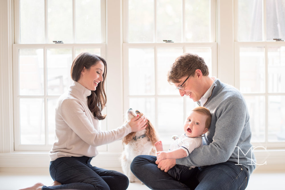 image from nashville family lifestyle photo session at home in fall