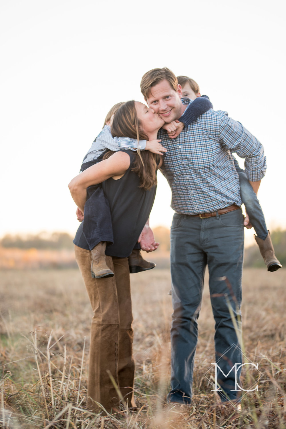 image from a fall family lifestyle session in nashville at airfield