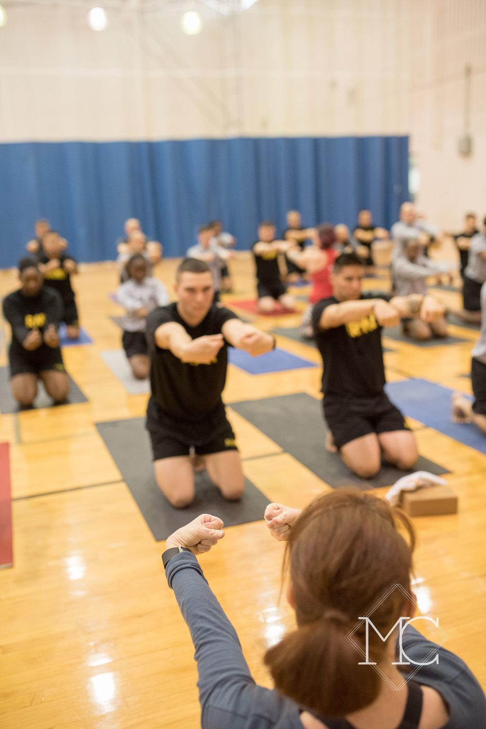 image from nashville yoga nonprofit at ft campbell army base in tennessee