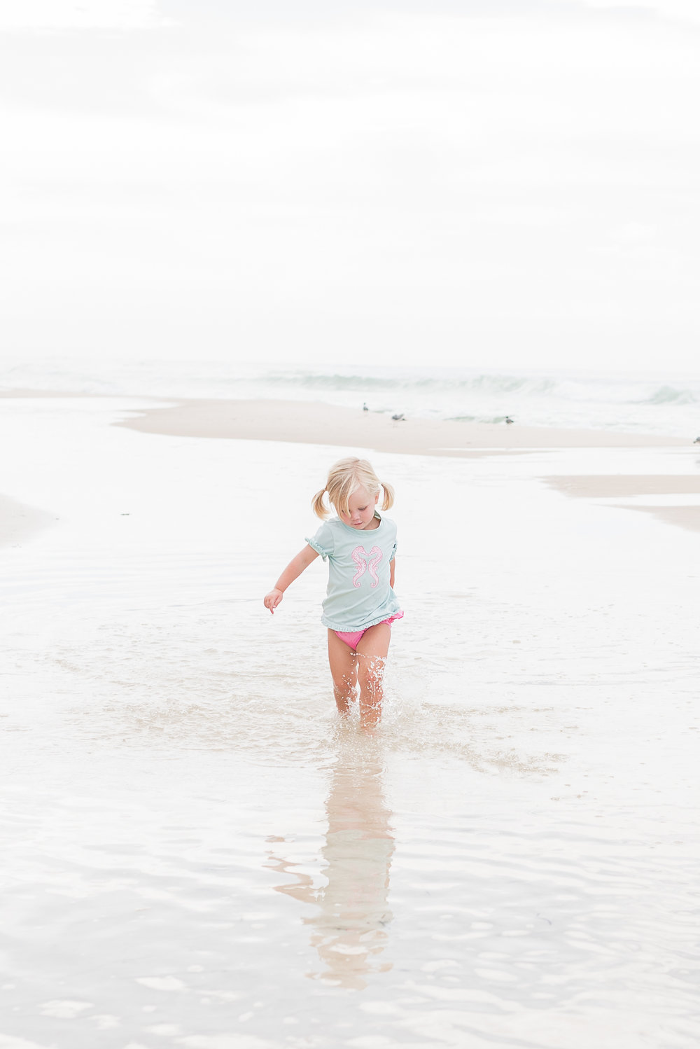 - early mornings were made for the beach - wide open spaces, sandcastles, and chasing waves.