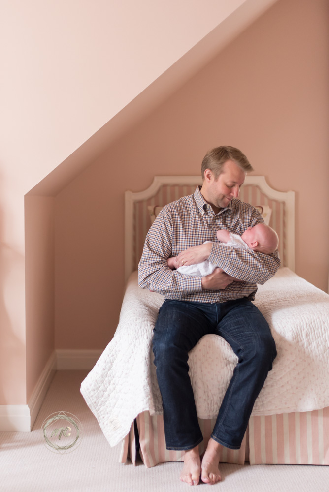 image from a newborn lifestyle photo shoot in Nashville Tennessee
