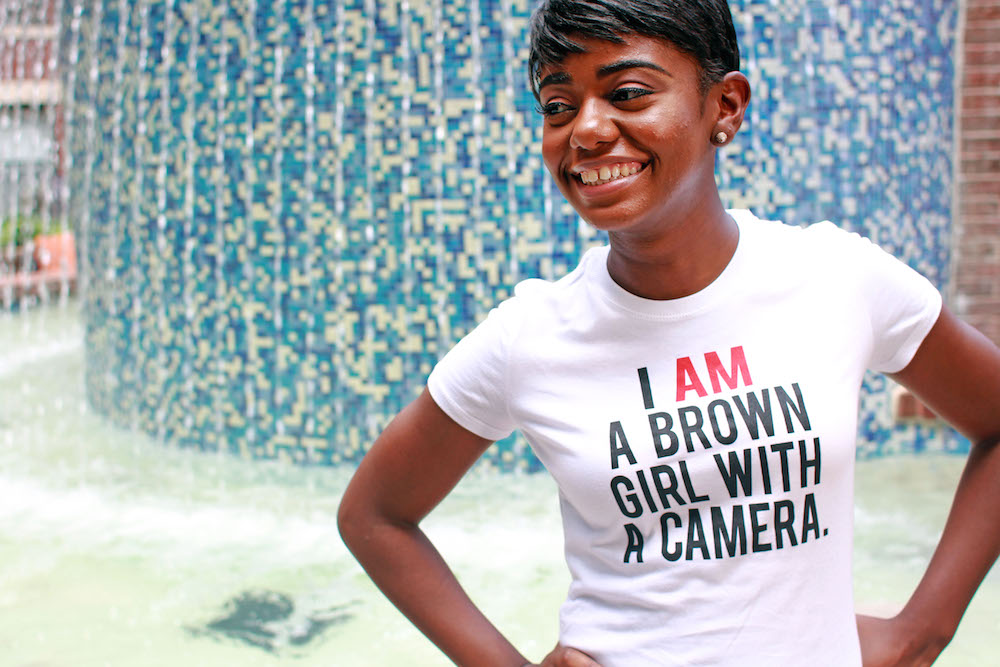 I AM A BROWN GIRL WITH A CAMERA - Fitted Tee.jpeg