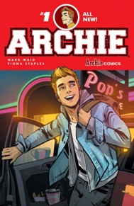 Archie #1 Archie is back at issue #1 just in time for his 75th anniversary.  It's a great starting point for readers of all ages and has some of the best talent in the business working on it with Mark Waid and Fiona Staples.