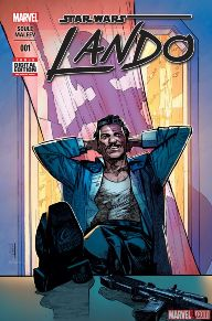 Lando #1 Lando finally has his own series!  Lando is a character who we don't know much about, so to see him in a solo series is a great opportunity for us to learn more about his back story.  With the stellar creative team of Charles Soule and Alex Maleev, this is  Star Wars meets Ocean's Eleven that you have to check out.