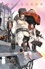Descender #5 It's always interesting to see a story where a child has the weight of the world on their shoulders.  Plus who doesn't love a story with giant mechs?  Jeff Lemire delivers a great sci-fi comic here that is a must read.