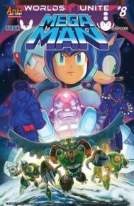 Mega Man #51 We're in the middle of a big crossover event between Mega Man and Sonic the Hedgehog. Having grown up playing both video games, Worlds Unite has been such a fun ride. This is good for both kids and adults alike.