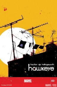 Hawkeye #22 This book came out last week, but because we were shorted, it's being featured this week. This is the last issue in Matt Fraction and David Aja's phenomenal run on the Avenging Archer. It's bittersweet, but the creative team delivers the ending that we all deserve.