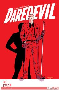 Daredevil #17 This book is always exciting. Mark Waid just stepped things up a notch by bringing back Kingpin who hasn't been in the series for quite some time. Now Matt is making a deal with the devil that will turn him into social suicide. Check this one out!