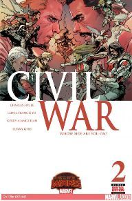 Civil War #2  I was a big fan of the first Civil War arc when it came out.  Things got real in the Marvel Universe; for me, that was the first time politics in the book felt like real issues in our government.  Plus, they put such a great writer (Charles Soule) with it.  This arc is just a continuation of what could have happened if the war hadn't ended and it starts right off the bat with a new struggle.