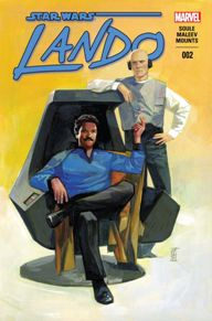 Lando #2  The new Marvel Star Wars titles have been an absolute joy for life-long fans and new readers as well.  Lando was one of those characters we all loved in the movies but never had the chance to learn much about.  Charles Soule is letting us do that in this new series, showing us some history behind one of our favorite scoundrels.  The book flows so well that you'll be dying to know what happens next.