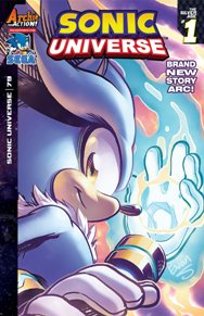 Sonic Universe #79 Silver is back!  A character introduced in the Sonic the Hedgehog game back in 2006, he has a unique set of powers that no one else in the Sonic universe has.  Now we get a whole story arc dedicated to the character and it starts off strong.  I can't wait to see where this one goes.