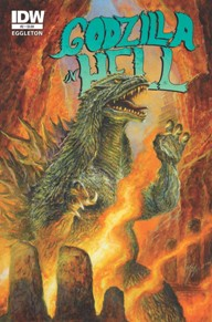 Godzilla in Hell #2 The first was visually enticing.  I love James Stokoe's art and his story telling through the art.  Even with no dialogue, the last issue was a very cool story.  Each issue coming out has a new writer and artist and the artist on this book is sci-fi extraordinaire Bob Eggleton, so expect more great visuals.