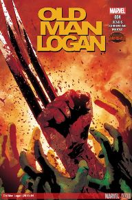Old Man Logan #4 This book is nitty-gritty.  I've never seen Logan take so many brutal beatings, but he has definitely given back everything that he's taken.  The last issue has Logan jumping off the top of a building and impaling a Thor.  It also has a great western feel too.  I believe that Logan as an old man is like Clint Eastwood in High Plains Drifter.