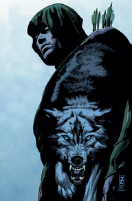 """Green Arrow #44 The """"origin story"""" of Green Arrow's new pet wolf is revealed in this issue and it's pretty cool! On top of everything that is happening in the city, Oliver adds women troubles to the list as we're introduced to Tarantula and her request for our favorite hooded vigilante."""