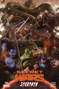 Secret Wars 2099 #5  The finale to the 2099 Secret Wars story. This book has great line up of characters from 2099's past and I'll be sad if some of them don't make the cut in Marvel's new universe. Peter David has done a Knock Out job with Spider-man 2099 and this story has been super exciting from the get go. I grew up reading the 2099 series and I've been so happy Marvel has brought these characters back, so this story will be a treasure held deeply in my heart.