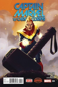 """Captain Marvel and the Carol Corps #4 One thing I like about this book is how it takes Captain Marvel (a modern day hero) and places her into World War II times. It's almost as if Carol Danvers is staring in """"The Great Escape"""" or """"Rat Patrol"""" and I really enjoy it."""