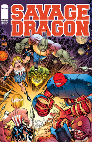 Savage Dragon #207  One thing that makes this a great book is that it has stood the Image test of time! It is one of the first titles alongside Spawn that jump-started Image as a company. What's even more amazing is that the book is still done by the original artist/writer, Erik Larsen, a comic book great through and through!