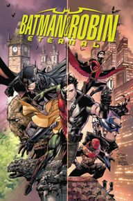 Batman and Robin Eternal #1  A new weekly series has started at DC this week with Batman and Robin Eternal. Unlike last year's Batman Eternal, this series deals heavily with the Robins and a few others who have helped Batman along his journey to vanquish evil in Gotham. Plus this issue has a surprise cameo at the end that you won't want to miss.