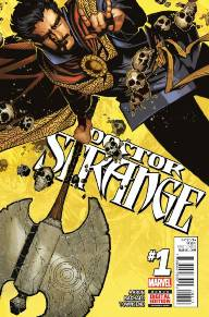 Doctor Strange #1  I've been waiting a long time for a new Doctor Strange series and we finally have one courtesy of Jason Aaron and Chris Bachalo. A warning of The Great Slaughter comes to Doctor Strange from another dimension and the good doctor fears that he and Earth's wizards may not be able to stop it. This issue is full of great action, beautiful art, and plenty of humor. Give it a read!