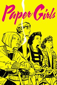 Paper Girls #1  Saga writer Brian K. Vaughan launches a brand-new series with superstar Wonder Woman artist Cliff Chiang! In the early hours after Halloween of 1988, four 12-year-old newspaper delivery girls uncover the most important story of all time. Stand By Me meets War of the Worlds in this mysterious young adult adventure, starting with a spectacular double-sized first issue.
