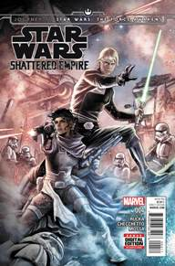 Star Wars Shattered Empire #4 I'm always leery when it comes to prequels to movies.  Well, shame on me for thinking that way about Star Wars.  This mini-series has been great from the start; with this final issue, being the perfect way to wrap things up for the new and old characters involved.  If you plan on seeing The Force Awakens, be sure to give this series a read as well.