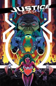 Justice League #45 It was just two months ago that I read Crisis on Infinite Earths and there really hasn't been much about Anti-Monitor since that book. What better way is there to bring in him back than to put him at war with Darksied? If you love things being blown out into epic proportions, then this is the book for you.