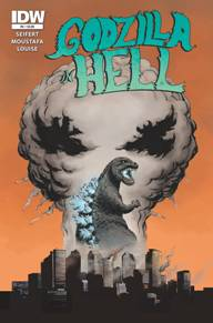 Godzilla in Hell #4 There is something just incredible about a story being told with no dialog and just pictures. This book has been such a fantastic play on everyone's favorite movie monster going through a new take on the layers of Hell. One more issue left!