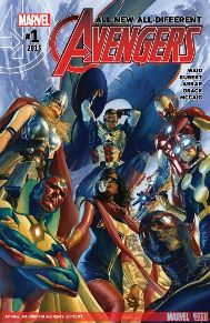 All New All Different Avengers #1  What can I say besides...MARK WAID! I can't tell you how excited I've been for this book. Mark Wait is throwing together a team who's new to the standard Marvel Universe, especially Miles Morales! I'm interested in seeing how these guys will operate together and if the team will be official members or their own unauthorized team.