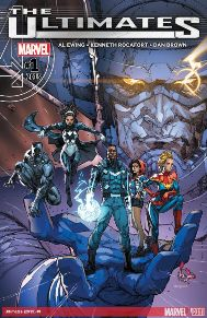 Ultimates #1  I was sad to see the Marvel Ultimate universe end. To me those were some of the best Marvel stories. I'm just happy to see Marvel continue the title even if it really isn't characters from the Ultimate universe, but I am very happy to see Captain Marvel on the team! I'm betting I'll be surprised on how good this book will be.