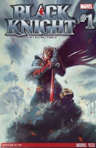 Black Knight #1   This is my most anticipated comic of the more recent all-new all-different Marvel line. I'm a huge fan of the fantasy genre and to see that little corner of the Marvel Universe come around again is fantastic. Dane Whitman is an incredibly skilled swordsman and there is plenty of action from the get go. With a great supporting cast and artwork to compliment everything, this book is shaping up to be a favorite of mine.