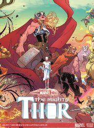 Mighty Thor #1   This issue was my introduction to Lady Thor: yes I realize that her name is just Thor, but that's the only way I can think to identify her. I was surprised at how well this book was written. Jason Aaron is just a master at his craft and this first issue made me care about the character and what's going to happen in the future. Dark things are being put into place here and I can't wait to see where Aaron takes us.