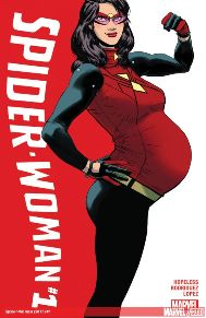 Spider-Woman #1   As you guys know, I have been all about this book. But now as an adult man reading a book about a pregnant super heroine, I'm a little out of of my comfort zone. So I'm excited and a little nervous at the same time, but Hopeless hasn't let me down yet.