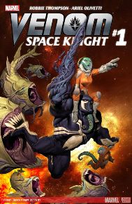 Venom Space Knight #1  Flash Thompson has come such a long way since his days in Spider-Man.  From school bully, war hero, secret government agent, to cosmic avenger.  I'm glad that Flash didn't just end up a one-sided character and it's great that he gets to continue the legacy of the Venom Symbiote.