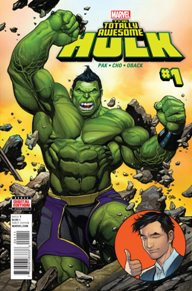 Totally Awesome Hulk #1  Once again another humorous book! I've never been let down by a Greg Pak book and you won't be either. It's cool to see a teenager Hulk, its almost as if Peter Parker was hit by Gamma Rays rather than been bit by a Radioactive Spider. I also like how the story gives you the action at the beginning with fillers in between to tell you how Cho became the Hulk . Marvel had done good with this new Hulk tale!