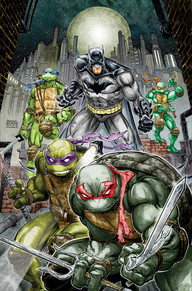 Batman TMNT #1 This crossover has been anticipated for a long time. Being a big fan of both the Ninja Turtles and Batman, this is a childhood dream come true. James Tynion IV and Freddie Williams II show us something we haven't seen before, but something that I think is going to be one hell of a fun ride.