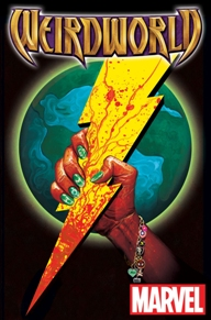 Weirdworld #1  I've been anticipating this comic for a couple of months now. Mike del Mundo's art is reason enough for anyone to pick this book up, it's gorgeous. The story is quite humorous and well-written too, this was overall a wonderful issue. A young lady gets teleported to Weirworld out of blue and she has to get back to Earth to fulfill a personal quest that I don't want to spoil here. Check it out!
