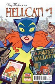 Patsy Walker AKA Hellcat #1 Patsy Walker has managed to escape her past, her enemies and Hell itself (literally), but nothing compares to job hunting in New York City! Between trying to make rent and dodging (literal) bullets, Patsy barely has time to deal with her mother's exploitative romance comics about her childhood resurfacing, much less how they start to interfere with her work and dating life. As she goes from living a double life to a triple, what the Hell is Patsy Walker supposed to do?