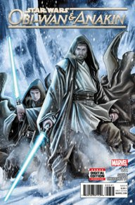 Obi-Wan & Anakin #1 I didn't know what to expect from this issue with it taking place during the prequel-era. But with Charles Soule and Marco Checchetto working on this book, they set up what's going to be a really fun six-issue series. Obi-Wan and Anakin respond to a distress signal requesting Jedi intervention on what was thought to be a deserted planet. After crash-landing, it seems like the planet is anything but deserted. If you're a Star Wars fan I highly suggest this new series.