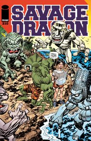 Savage Dragon #210 Trouble in paradise. Malcolm and Maxine on their honeymoon in hell. With monster battles and an exotic location, this is Savage Dragon at its best!