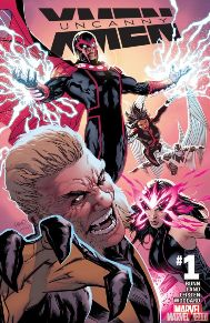 Uncanny X-Men #1 Cullen Bunn brings us another X-Men book this week with the start of Uncanny X-Men. Bunn on writing details and the line-up of characters definitely had me interested. The team consists of Magneto, Sabretooth, Monet, Archangel, and Psylocke. It's not a team I was expecting but one that has me very interested in how they'll work together. It reminds be a bit of X-Force, which isn't a bad thing, but it doesn't seem like they're working off the grid, I'm curious if that will have backlashes.