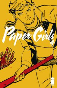 Paper Girls #4 This book has done a really great job of spreading the story out without getting boring or tiresome. The story just reminds me of my favorite movies from the 80's and the art is really great! Each book is very leading into the next with a great amount of surprises at the end of each story!