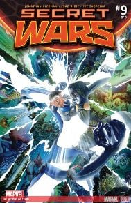 "Secret Wars #9 Finally!!  We are going to see how this ""All New, All Different"" Marvel is created.  Hickman has done an incredible job displaying the magnitude of Doom being a god and the sacrifices made to take down a god, yet nothing can be done to make things the way they were."