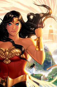 Legend of Wonder Woman #1  A new WONDER WOMAN 9-issue miniseries begins here with a story written and penciled by Renae De Liz.In the beginning there was only chaos. But Hippolyta, Queen of the Amazons, saw a better future—and eventually, her daughter would be destined to bring that new world to life! Before her ultimate fate unfolds, though, Diana of Themyscira must learn the important lessons of an Amazonian childhood!