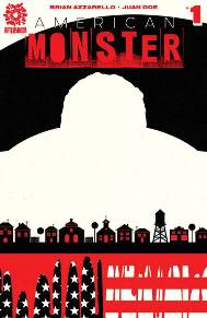 American Monster #1 In a small Midwestern town, a large man with a horribly scarred face gets off a bus, and takes a room. He spooks the locals--nobody knows him--or do they? It's impossible to say be-cause he seemingly has no face. The man's intentions remain unknown, until he takes on a corrupt sheriff and the rural crew of racist arms dealers. The town's impression of the man changes, and he's seen as a hero…until his real intentions bubble to the surface. The man isn't there to end the gang, but to take it over. And he's just getting started.