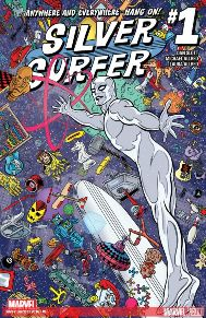 Silver Surfer #1 It's nice to read Dan Slott on a book that's not Spider-man. This book really just continues where the last series left off. Slott does a good job of taking something, making it corkey, but deadly series at the same time. I think this book is a nice break from the average superhero genre.