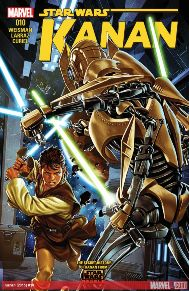 Kanan #10  Caleb Dume's first days in The Clone Wars continue...Master Billaba brings her Padawan and their clones to the Battle of Mygeeto. Separatist Generals Sear and Grievous lay in wait.  Whether you watch Star Wars Rebels or not, this book is fun for any Star Wars fans of all ages.
