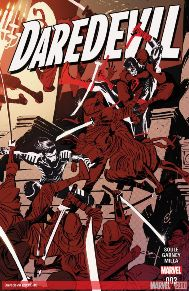 Daredevil #3   I loved Mark Waid's work on this book, but Soule has done a absolute amazing job with bringing Daredevil back to its dark roots. This book is much more grittier than it has been the last few years, and its an absolute fresh and familiar take on the character. Garney's art is brilliant too. He adds to Soule's story so much! Matt has got his secret identity back, but it most certainly hasn't made is life easier, already he has fought the hand, as well as become an instructor for a hero in training, and legally taking on a church/cult.