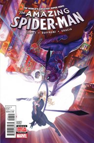 Amazing Spider-Man #7 Going in an opposite direction than Bendis' Spider-Man, Dan Slott's Spider-Man has a different set of choices.  Be present and run his company, or leave it behind for other people to be Spider-man.  My favorite thing about this book ins the reintroduction of Cloak and Dagger!  That alone has made the book for me!